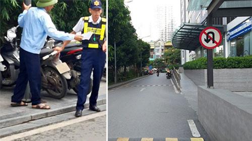 Thực hư chuyện bảo vệ chung cư chặn xe đi ngược chiều và phạt tiền